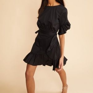 NWT Cynthia rowley wallflower black dress sz xs